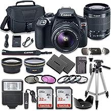 Canon EOS Rebel T6Cámara réflex digital Combo con Canon EF-S 18–55mm f/3.5–5.6IS II lente + 2PC SanDisk 32GB tarjetas de memoria + kit de accesorios