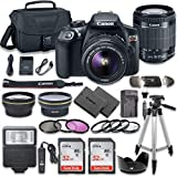 Canon EOS Rebel T6 DSLR Camera Bundle with Canon EF-S 18-55mm f/3.5-5.6 is II Lens + 2pc SanDisk 32GB Memory Cards + Premium Accessory Kit