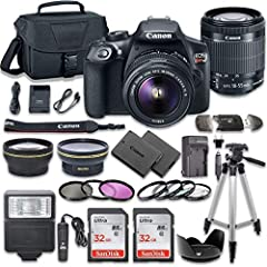 This Camera Bundle Kit comes complete with all manufacturer supplied accessories and includes: The EOS Rebel T6 DSLR Camera from Canon is an APS-C format digital SLR camera with an 18MP CMOS sensor and the DIGIC 4+ image processor. With 14-bit Analog...