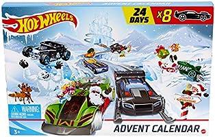 Hot-Wheels GJK02 - Adventskalender 2020 mit Spielzeug für 24 Tage, Autos und Zubeh?r