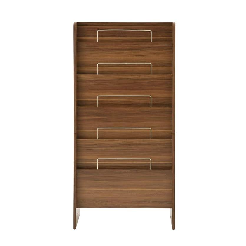 北東申込みくちばしぼん家具 マガジンラック パンフレットスタンド ブックスタンド 本棚 シェルフ ウォールナット