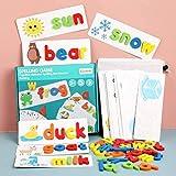 Alphabet Puzzle Game Toy Sets, jeu de lettres en bois assorti...