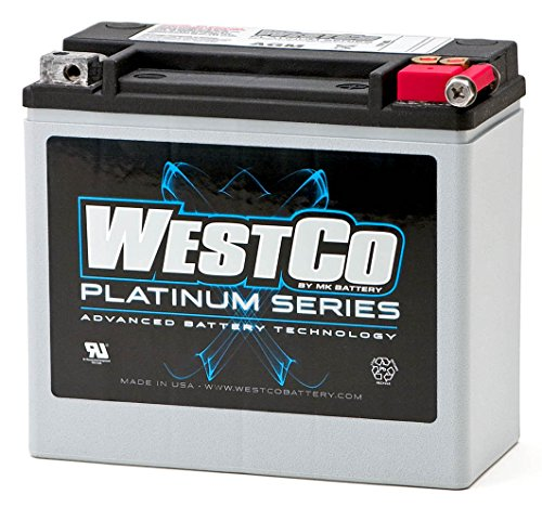 WCP20L Wartungsfreie AGM Batterie von WESTCO für Harley Davidson Modelle 65989-97A, 65989-97B, 65989-97C, 65989-97D, 11-524, YTX20L-BS, YTX20HL-BS, HVT-01