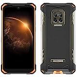 DOOGEE S86 Móvil Resistente, Batería 8500mAh, Helio P60 6GB+128GB, IP68 IP69K Smartphone Antigolpes, Altavoz Potente 2W, Cámara Cuatro 16MP, Corning Gorilla Glass 6,1 '', 4 Destellos LED NFC Naranja