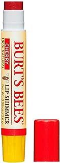 Burt's Bees 100% Natural Moisturizing Lip Shimmer, Cherry, 1 Tube