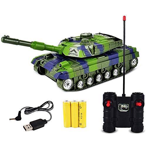 RC Fighting Battle Tanks, control remoto, camión fuera de carretera con sonido de combate, tanque de camuflaje militar, rotación de 360 grados, juguetes coches regalos para niños y niños cumpleaños