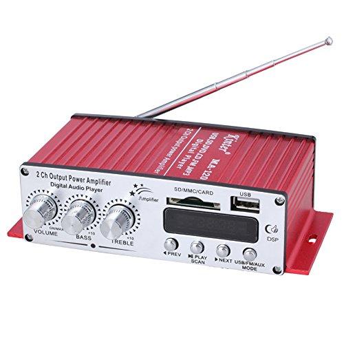 Kinter MA 120 2 canali Mini Digital lettore audio USB   SD   MP3   amplificatore FM   ingresso lettore di schede SD con telecomando trasferimento digitale stazione radio uscita 2 canali auto ad alta fedeltà moto computer amplificatore audio