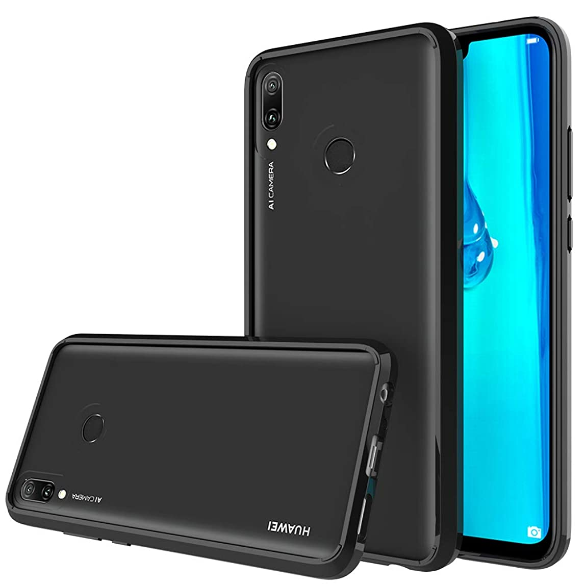 Huawei Y9 (2019) Case, CaseExpert Air Hybrid Ultra Slim Shockproof Crystal Clear Back Protective Case with TPU Bumper Cover for Huawei Y9 (2019)