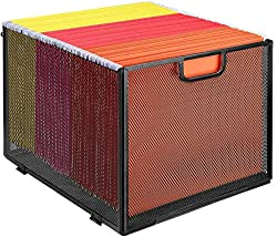 metal file crate with folders