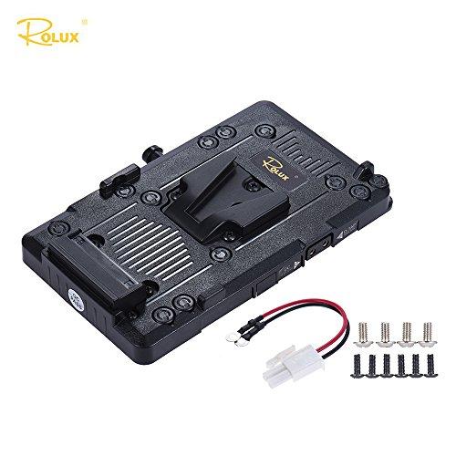 Andoer Rolux RL-IS2 V Montaje V-Lock Fuente de Alimentación Placa de la Batería para Sony BMCC BMPCC Videocámara Monitor LED Video Luz