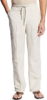 Xmiral Pantaloni da Abito Uomo, Slim Fit, Pantaloni da Smoking Elastici ed Eleganti alla Moda con Coulisse