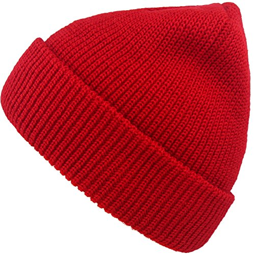 Slouchy Beanie Hats Winter Knitted Caps Soft Warm Ski Hat (red)