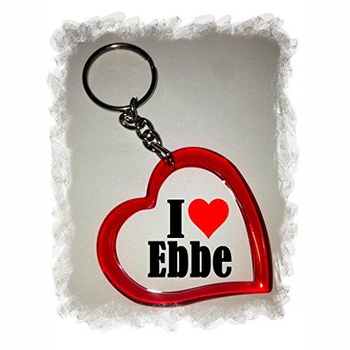 EXCLUSIVO: Llavero del corazón 'I Love Ebbe' , una gran idea para un regalo para su pareja, familiares y muchos más! - socios remolques, encantos encantos mochila, bolso, encantos del amor, te, amigos, amantes del amor, accesorio, Amo, Made in Germany.