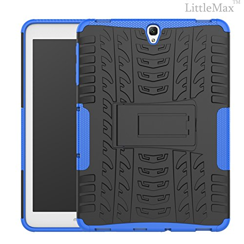 Galaxy Tab S3 9.7 Case-LittleMax(TM) 2 in 1 Kickstand Protective Case Shock Proof Soft Gel Tough PC Hybrid Cover for Samsung Galaxy Tab S3 SM-T820 SM-T825 9.7 Inch Tablet-03 Blue