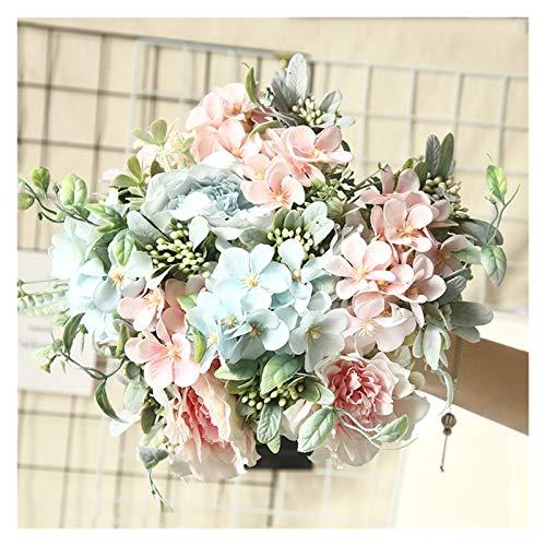 WXL Gefälschte Blume Künstliche Blumen hortena seiden strauß für Dekoration Camellia künstliche Pfingstrose Rose Hochzeit dekor gefälschte Blume Blume (Color : Random Color, Größe : 1 pc)