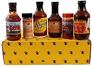 Kansas City Barbecue Sauce Deluxe Gift Basket Box Set - 18oz Fiorella's Jack Stack KC Original, Fiorella's Jack Stack KC Rub, 18oz Gates BBQ Classic Sauce, Gates BBQ Original Rub, 18oz Arthur Bryant's Original, 18oz Cowtown Original Bar-B-Q Sauce