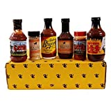 Kansas City Barbecue Sauce Deluxe Gift Basket Box Set - 18oz Fiorella's Jack Stack KC Original, Fiorella's Jack Stack KC Rub, 18oz Gates BBQ Classic Sauce, Gates BBQ Original Rub, 18oz Arthur Bryant's Original, 18oz Cowtown Original Bar-B-Q Sauce