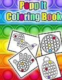 Popp It Coloring Book: Popp It Coloring Book : animals push pop bubble fidget Toy coloring book