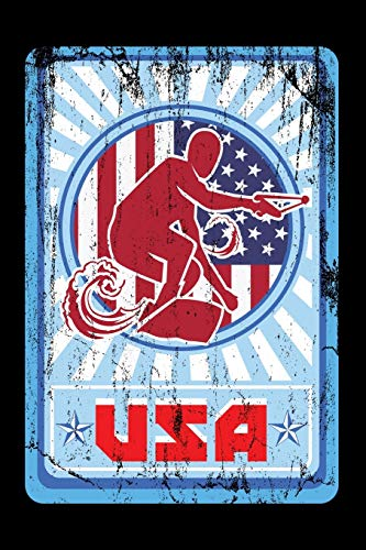 Journal: Wakeboarding USA Team American Wakeboarder Black Lined Notebook Writing Diary - 120 Pages 6 x 9