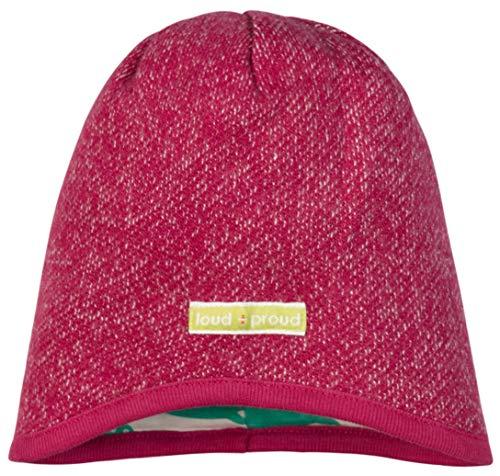 loud + proud Mädchen Melangestrick Aus Bio Baumwolle, GOTS Zertifiziert Mütze, Rosa (Berry Ber), 37/39 (Herstellergröße: 62/68)