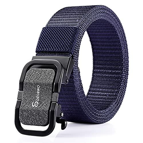 shuwen Cinturón de lona de los hombres automático hebilla cinturón joven y mediana edad negocios casual simple y versátil estilo coreano moda jeans cinturón