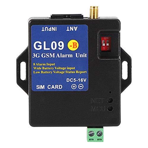 Hopcd Sistema de Alarma gsm, módulo de Alerta inalámbrico 3G de 8 entradas Sistema de Alarma gsm Compatible con frecuencia UMTS gsm Edge, para Android para el Control de la aplicación iOS