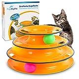 flipAlpha Katzenspielzeug - Dreifache Kugelbahn zur Beschäftigung für die Katze - interaktives Katzenspielzeug