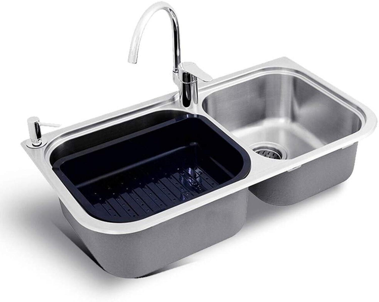 Edelstahl Kitchen Sink Wash Dish Gemüse Doppel Schüssel erschwinglichen 1,5 mm dick gebürstet Küchenspülen 0622