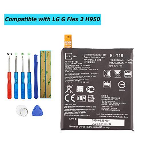 E-YIIVIIL BL-T16 - Batería de repuesto compatible con LG G Flex 2 H950 H955A LS996 H959 con kit de herramientas