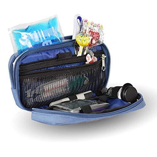 Bolsa estuche isotérmico para diabéticos | Modelo Diabetic´s | Mobiclinic | Color vaquero | Medidas: 17 x 10 x 6 centímetros | Diseño exclusivo y personalizado | Estuche para el kit de diabetes