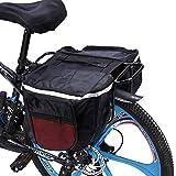 MAGT Bolsa de alforjas de Bicicleta Bolsa de Estante Paquete Trasero de Bicicleta Asiento de Ciclismo Trasero Portaequipajes de Maletero Bolsa de Doble Maleta