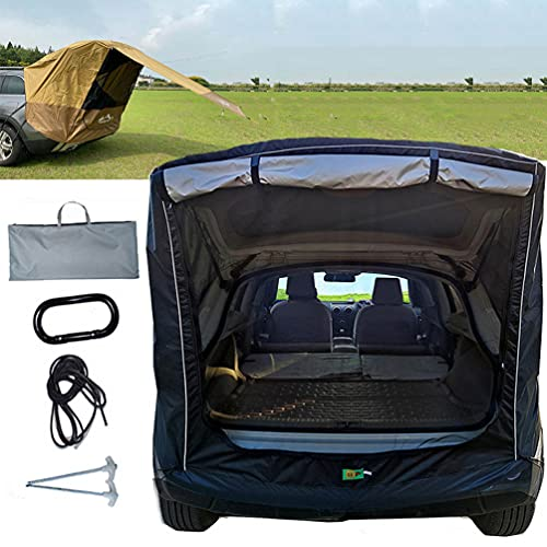 BrightFootBook SUV - Tienda Avance para Furgonetas de Camping, Carpa De Maletero para Coche, Autoconducción, Camping, Parasol Y Resistente a La Lluvia, Tienda De Campaña De Viaje,Black-M