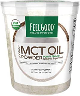 Feel Good USDA Organic MCT Oil Powder, 16 Ounces