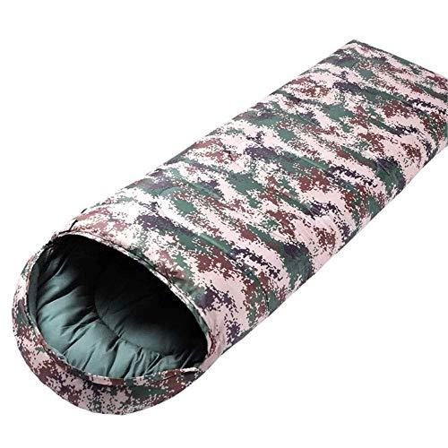 BABY Adulte 4 Saison Sac de Couchage Simple Sports de Plein Air Épais Chaud Randonnée Camping Alpinisme (Color : A, Size : 2.5kg)