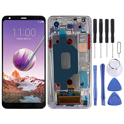 GGAOXINGGAO Pantalla LCD táctil de teléfono móvil Pantalla LCD y Conjunto Completo de digitalizador con Marco para LG Stylo 4 / Q Stylo 4 / Q710 / Q710MS / Q710CS Accesorios telefónicos