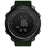 HBRT Altimeter, Barometer, Mountaineering Waterproof Watch, Digital Survival with Compass Sports Watch for Running Timing Swimming Cycling
