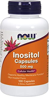 Now Foods - NOW FOODS INOSITOL 500mg - 100 veg caps