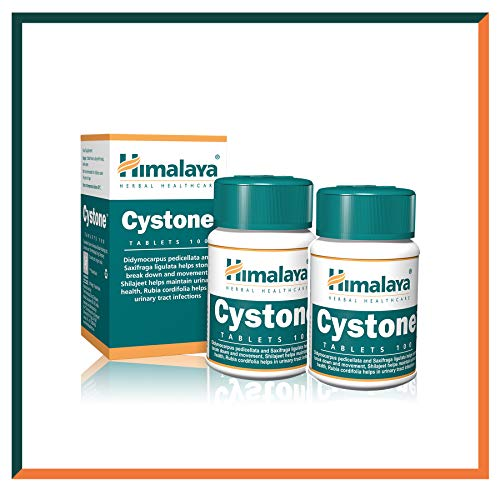 Himalaya Cystone, Urinary Tract Infection (UTI) Herbal Supplement for Men and Women - for Kidney Stone Cleanse and Support - 100 Capsules, 2 Pack