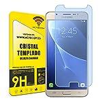 actecom® Protector Pantalla Compatible con Samsung Galaxy J7 J710F 2016 Cristal Vidrio Templado