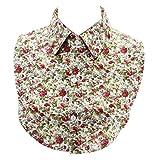 Camisa Falsa De Mujeres Collares De Algodón Desmontable Floral Cuello Decorado Collares Accesorios Coat
