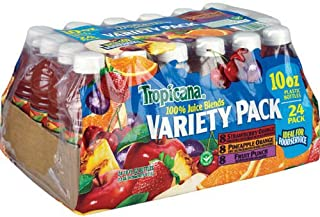 Tropicana 100% Juice Blends Variety Pack - 24 Pack / 10 Oz. Plastic Bottles