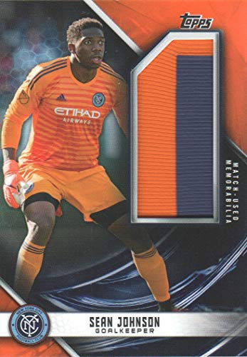 2019 Topps MLS Soccer Jumbo Relics Orange #JRSJ Sean Johnson 25/25