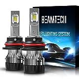 BEAMTECH 9007 LED Bulb,30mm Heatsink Base CSP Chips 10000 Lumens Hi/Lo 6500K Xenon White Extremely Super Bright Conversion Kit Low Fog...