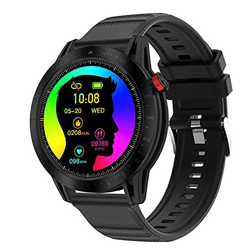 ZGZYL Reloj Inteligente De Los Hombres con 3Atm Función Impermeable Seguimiento De La Actividad, Monitor De Ritmo Cardíaco Continuo para Hombres Y Mujeres Fitness Watch for iOS Android Smart Watch,D