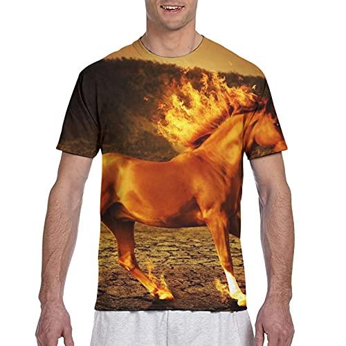 Kteubro Sporting Horse - Camiseta de manga corta para hombre, multicolor, XXL