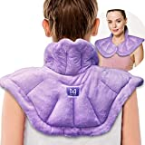 Microwavable Heated Neck Wrap Warmer and Shoulder Heating Pad Microwave, 2 in 1 Freezer or Microwave Heating Pad for Neck and Shoulders Pain Relief