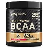 Optimum Nutrition Gold Standard BCAA, Aminoacidi Ramificati in Polvere, Vitamina C con Magnesio, Zinco, Elettroliti, Fragola Kiwi, 28 Porzioni, 266 g, il Packaging Potrebbe Variare