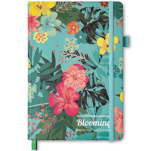 Cuaderno de tapa dura grueso, tamaño A5:148 x 210mm, papel grueso grueso premium, 120 g/m², 180 páginas, 5 hojas adicionales Fácil de arrancar Notas Kraft