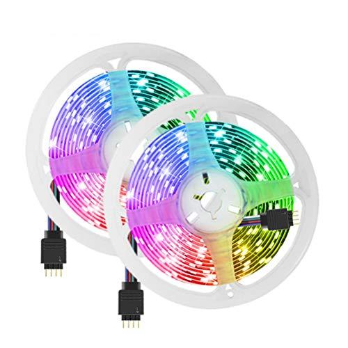 ZHUSHI Barra De Luz LED 10M 5050SMD La Barra De Luz RGB Se Puede Cortar Cinta LED Luz De Fondo De TV Sala De Estar Iluminación Ambiental