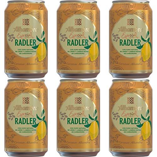 Alhambra Radler Lager Bier 3.0% Alkohol Dosen 330 ml. Bierpaket. biere der welt, bier set, geschenke für männer (12 Dosen, 0.33 l)